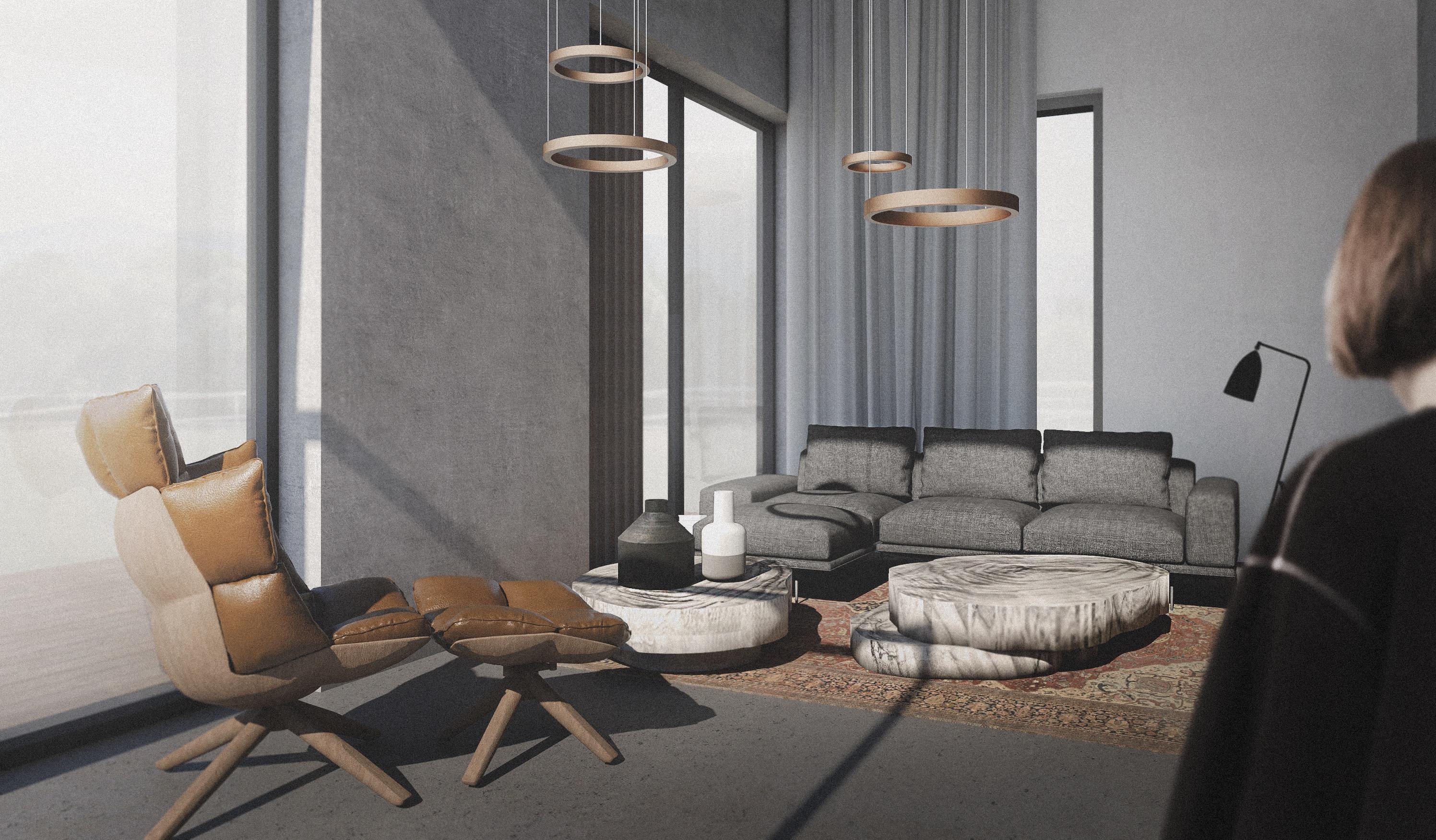 Pohled obývací prostor