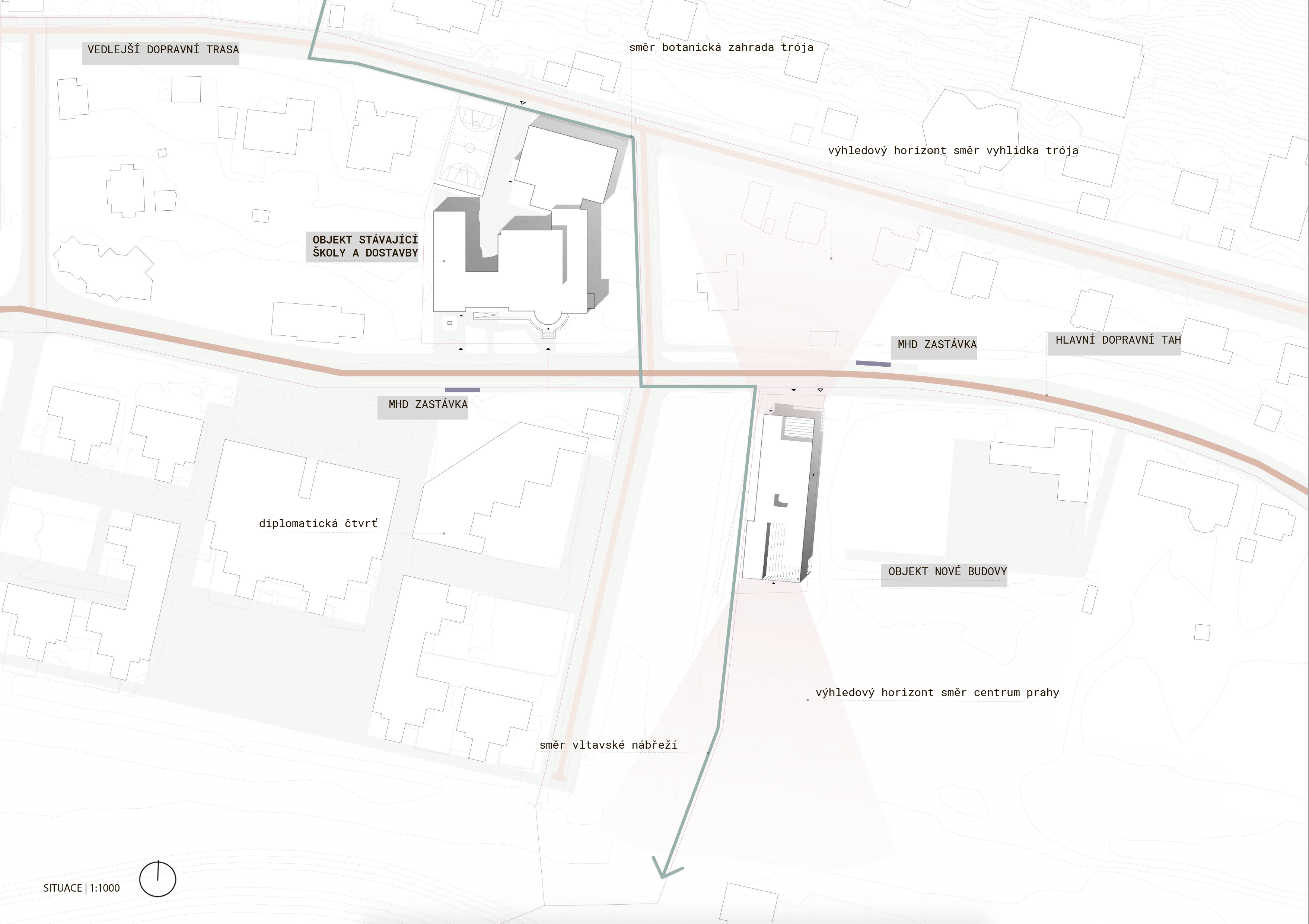 Site plan of wider relations