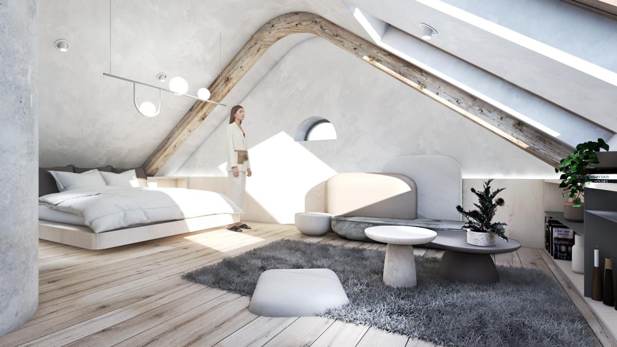 Apartmá podkroví - hlavní budova