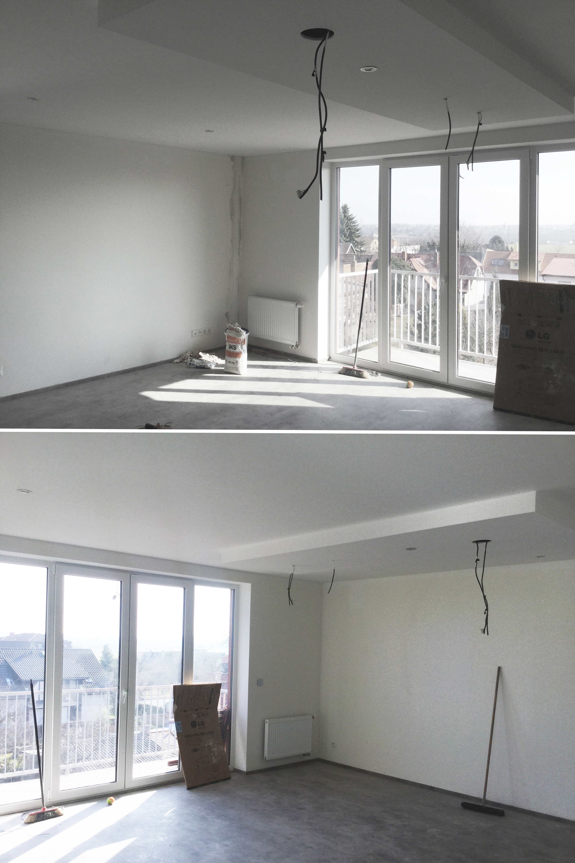 Podhledy - obývácí a kuchyňská část