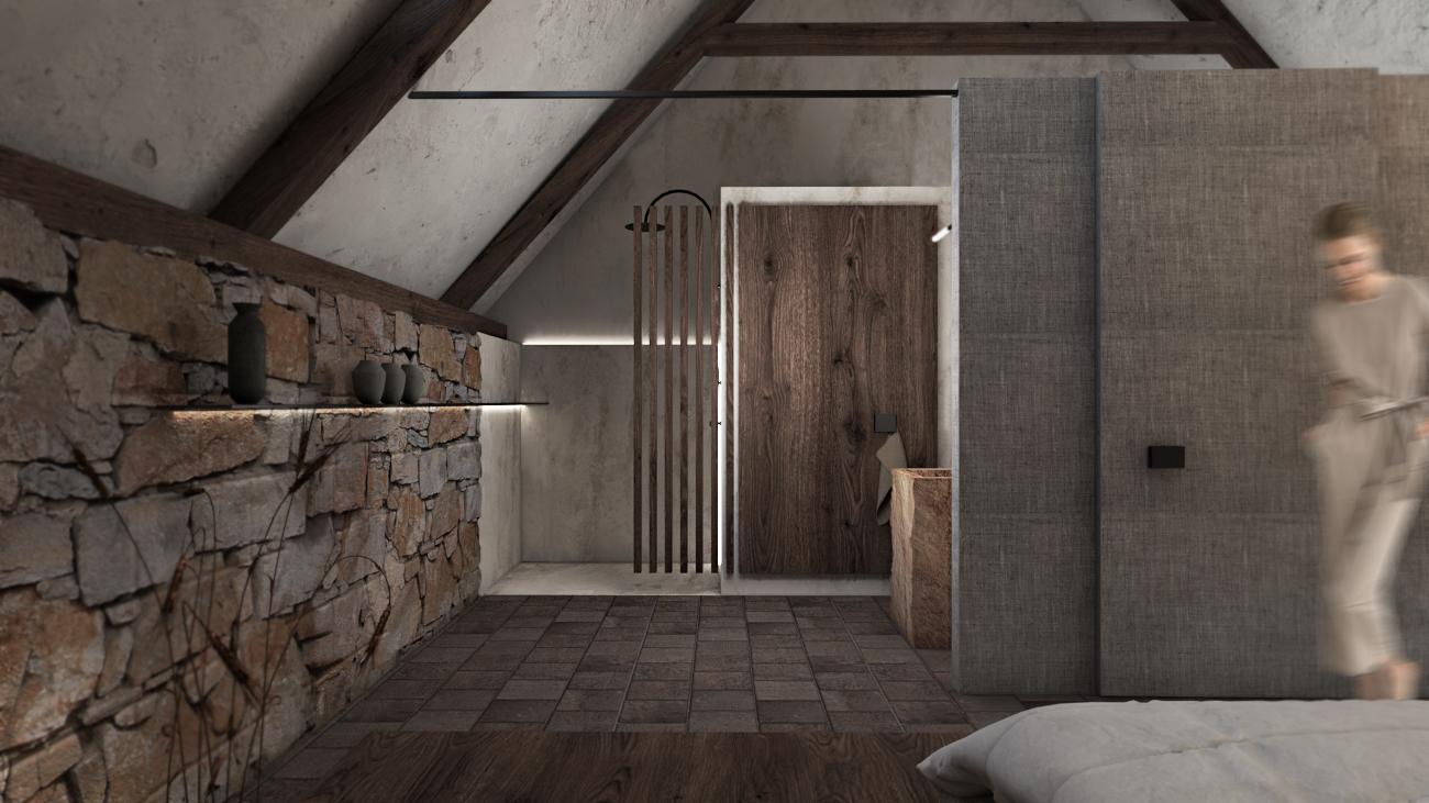 Apartmá podkroví - stará stodola