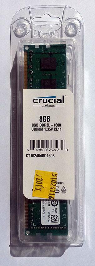 Crucial DDR3 8GB 1600 Ref CT102464BD160B