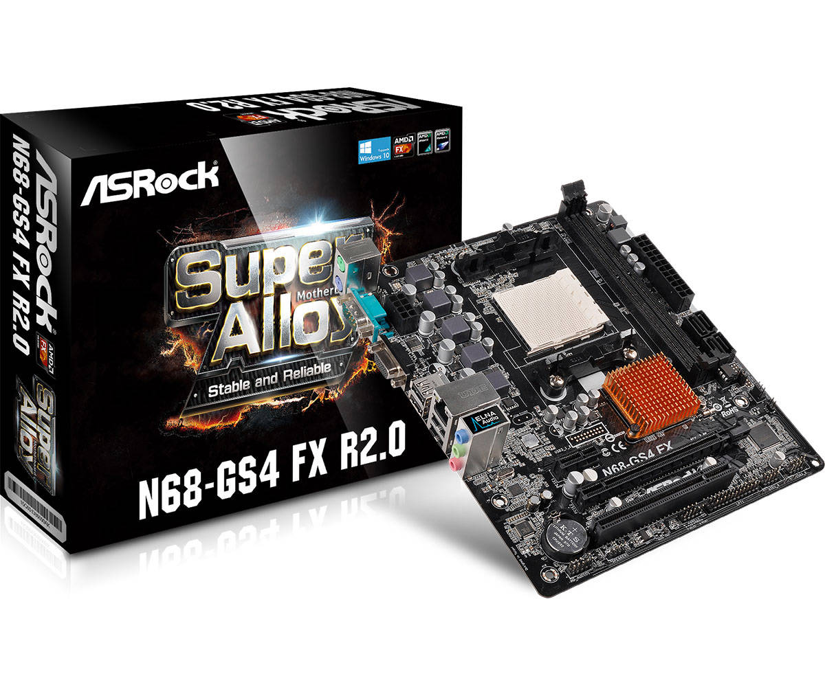 Asrock N68-GS4 FX R2.0 (L1) Amd