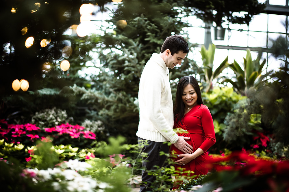 garfield park conservatory maternity session