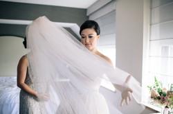 bride prep InterContinental Hotel
