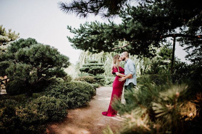 Chicago Botanic Garden Maternity Session : Leah and Cory