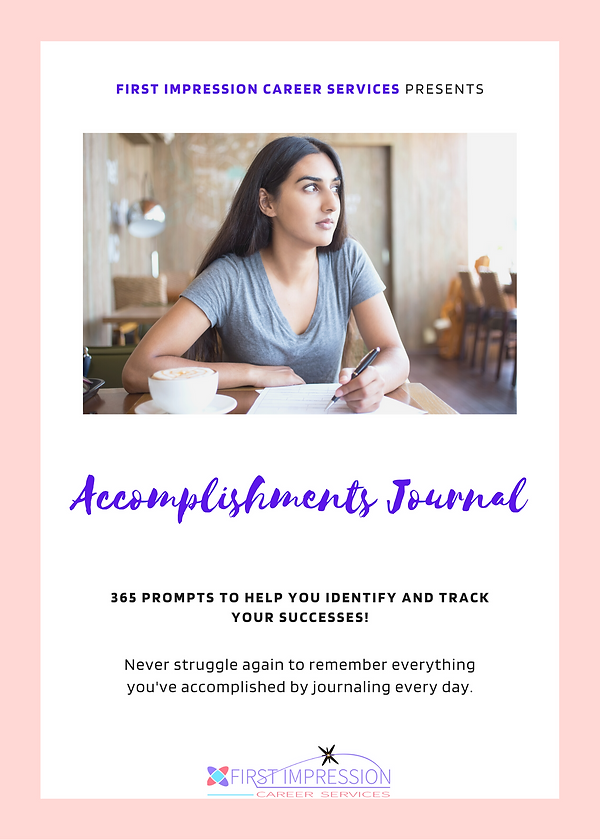 Accomplishments Journal for landing page