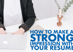 Make a Great First Impression