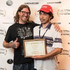 Jeffrey Garcia & Furley with Grindhouse Award