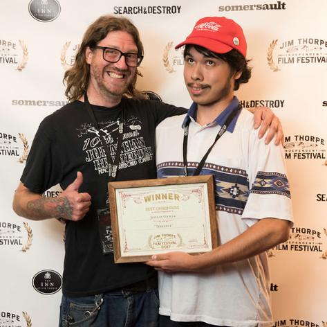 Jeffrey Garcia & Furley with Grindhouse Award