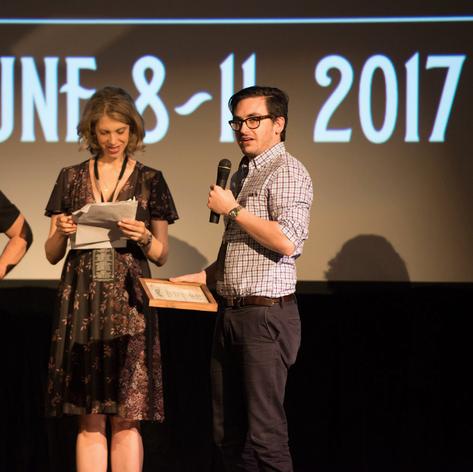 Shane Butler accepts Best Screenplay award