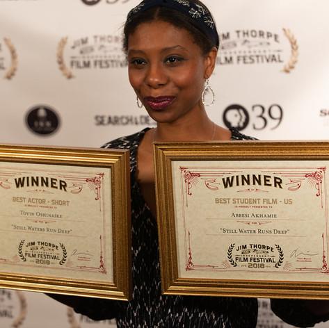 Abbesi Akhamie with 2 Awards