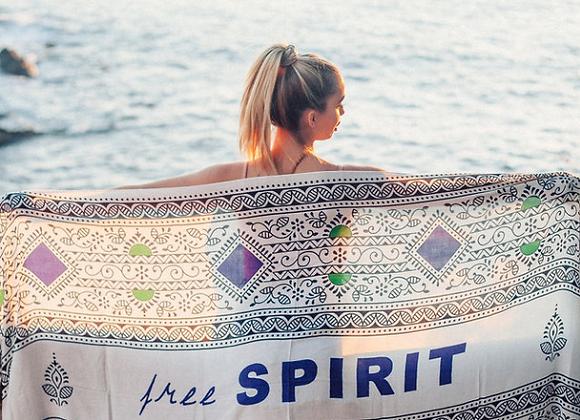 Free Spirit Wander Word Wrap