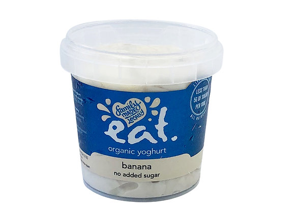Banana No Added Sugar Organic Yoghurt
