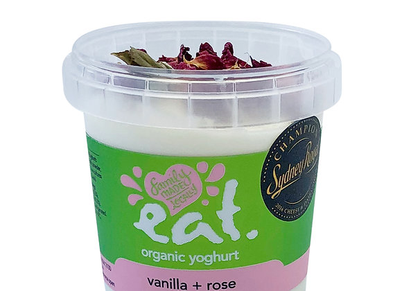 Vanilla + Rose Organic Yoghurt