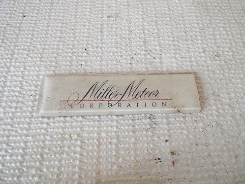 Miller-Meteor Badge