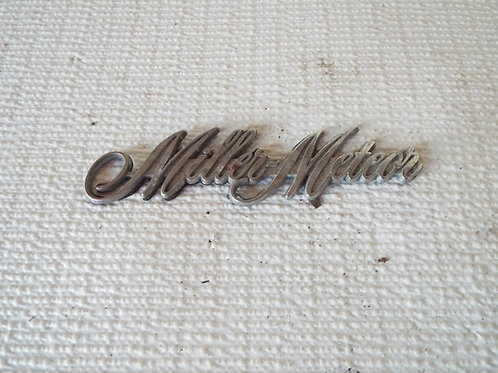 Miller-Meteor Script Badge