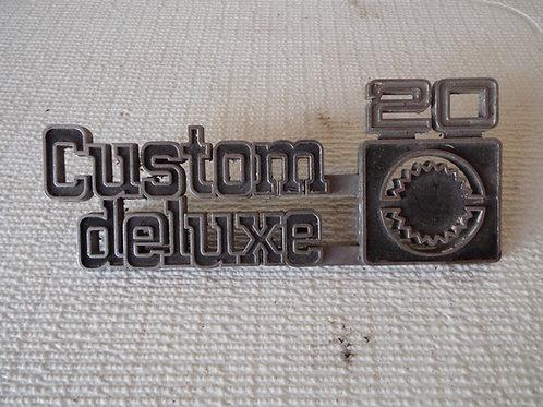 75-80 Chevy Custom Deluxe Badge