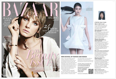 present on< Harpers Bazaar Singapore> 2015 may issue