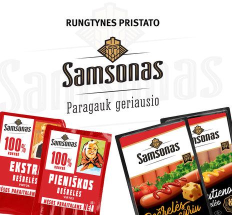 """Maketas / baneris """"Samsonas"""" mėsos gaminiams"""