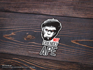Not friendly ape