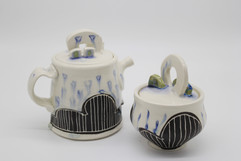 Rainy Day Teapot & Sugar