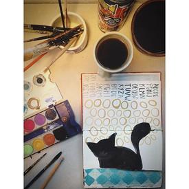 Breaking in a new old habit.  A sketchbo