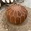 Thumbnail: Terracotta Leather Pouf