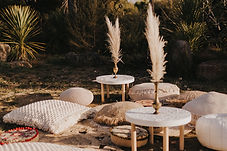 White Moroccan tin table