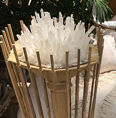 Large Crystal Bamboo Light