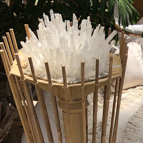 Large Crystal Bamboo Light