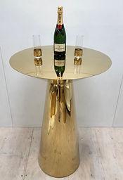 Gold Tall Bar Leaner