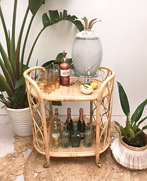 Cane Bar Cart