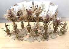 Small Brass Dried Florals