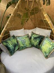 Green Palm Cushion