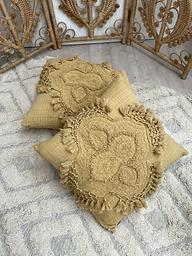 Intricate Mustard Cushion
