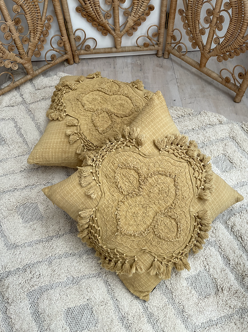 Intricate Mustard Cushion