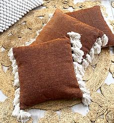 Rust Tassel Cushion