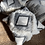 Thumbnail: XL Grey Tufted Floor Cushion