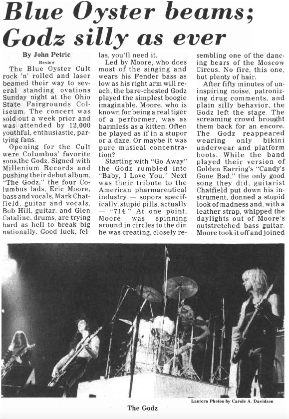 Classic early John Petric review - March 8, 1978 Ohio State Lantern