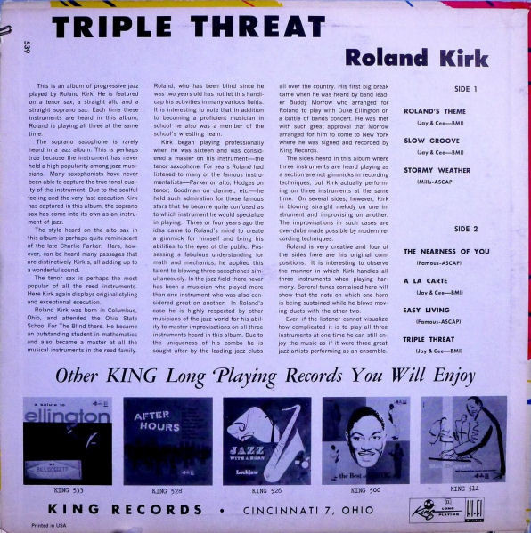 Back cover of Triple Threat