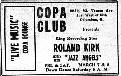Ohio Sentinel - March 8, 1958 Copa Club ad