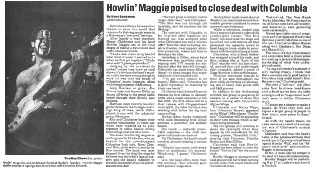 Howlin' Maggie Lantern article