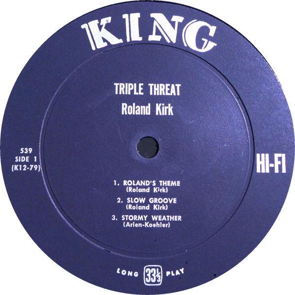 Side 1 Triple Threat label