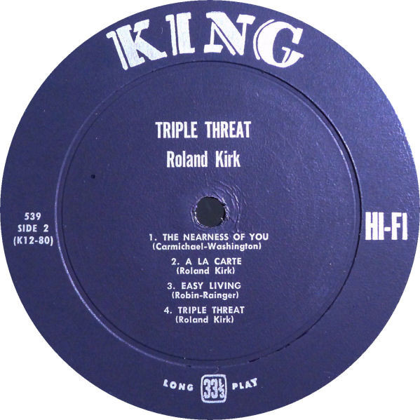 Side 2 Triple Threat label