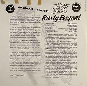 Back cover of America's Greatest Jazz