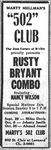 Ad from September 20, 1958 Ohio Sentinel
