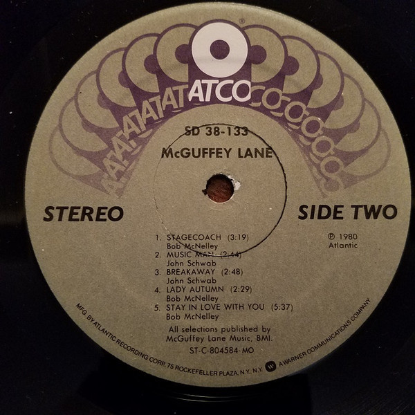 Label from Atco Records release