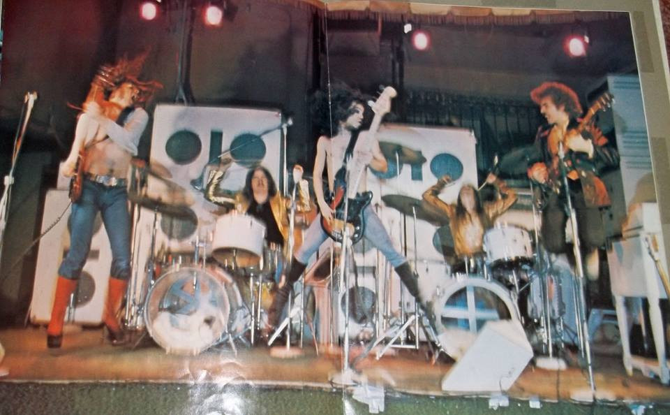 The original dual drummer Godz with Hayward Law & Mike Adams, 1976