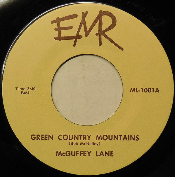 Label of self-released Green Country Mountains 45